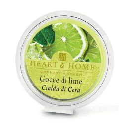 Heart & Home - Candela in cera di soia - Gocce di Lime