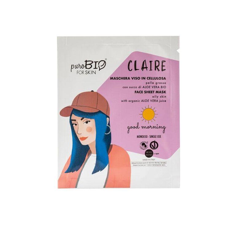 puroBIO - Maschera Viso in Cellulosa Claire