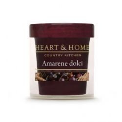 Heart & Home - Candela Piccola in cera di soia - Amarene Dolci