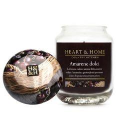 Heart & Home - Candela in cera di soia - Amarene Dolci - Barattolo Grande
