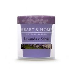 Heart & Home - Candela Piccola in cera di soia - Lavanda e Salvia